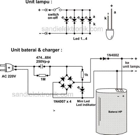 membuat powerbank dari senter cas lu darurat mati listrik sandi elektronik