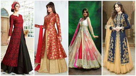 Slit New new designer front slit kurta lehenga design ideas for