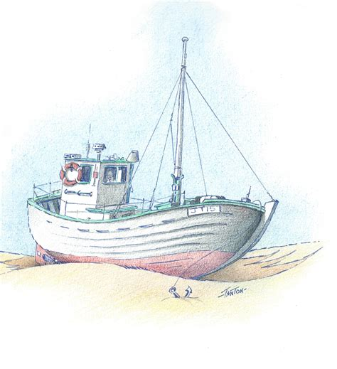how to draw a jon boat fishing boat drawing