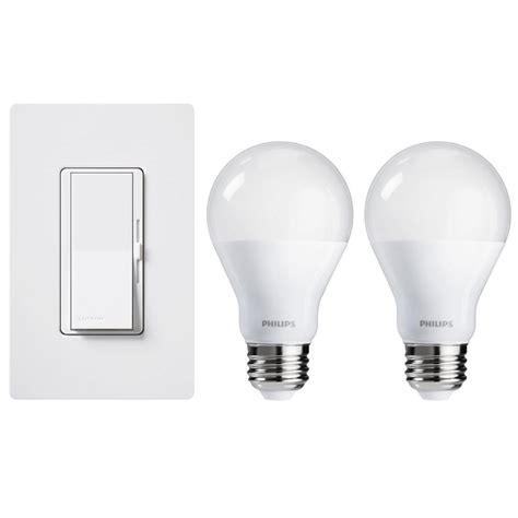 Lu Led Philips 19 Watt lutron 150 watt led dimmer with wall plate and 2