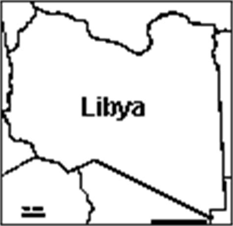 Libya Map Outline by Africa Enchantedlearning