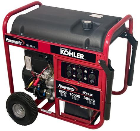 8000watt Electric Start Honda Generator by Powermate Gas Powered Generators