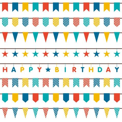 birthday ornaments birthday ornaments collection vector free