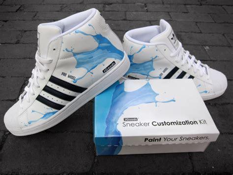sneaker painting kit quot paint splash quot custom adidas pro model by jgoods for bj