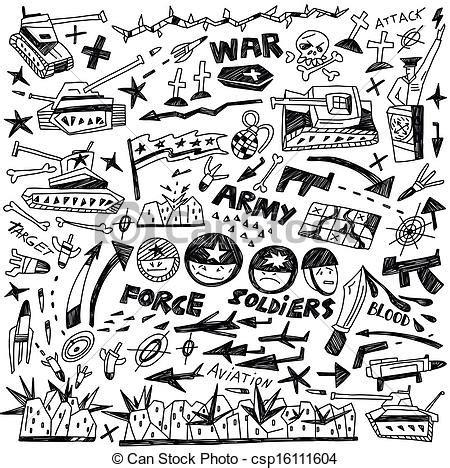 doodle battle doodles guerre collection style guerre croquis