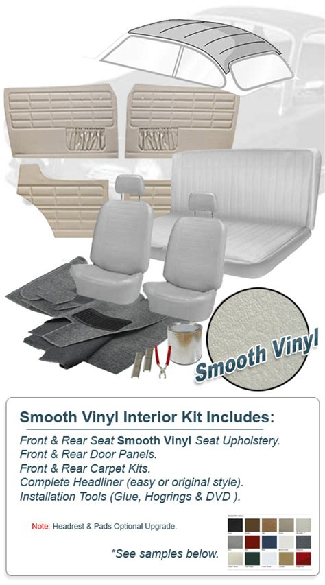 Karmann Ghia Interior Kit by Deluxe Smooth Vinyl Vw Interior Kit Karmann Ghia Coupe