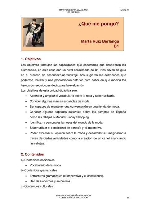 vocabulario ele b1 lxico materiales para la clase de ele b1 2013