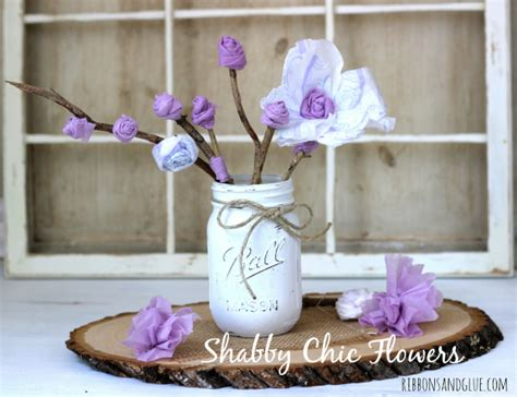 how to make shabby chic flowers out of fabric shabby chic flowers ribbons glue