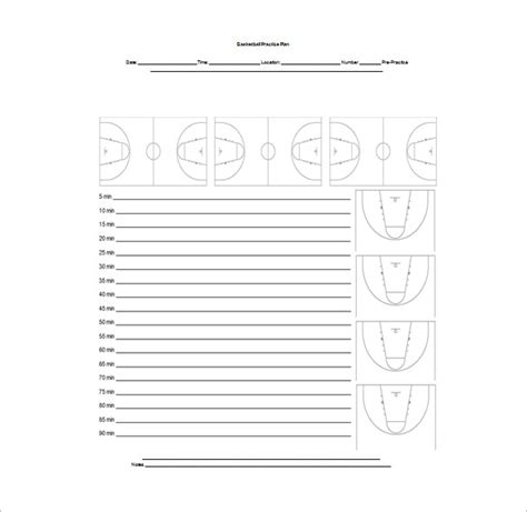 Basketball Practice Plan Template 3 Free Word Pdf Excel Documents Download Free Premium Basketball Practice Schedule Template