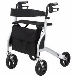 Lightweight 4 wheeled rollator walking frame with seat only 5kg ebay