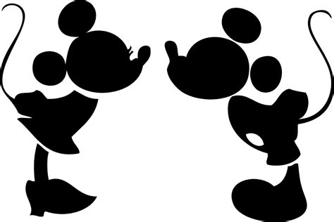 Diseno Online mickey minnie mouse head silhouette clipart free clipart