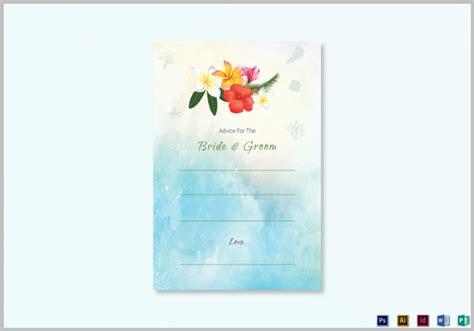 Wedding Advice Cards Template
