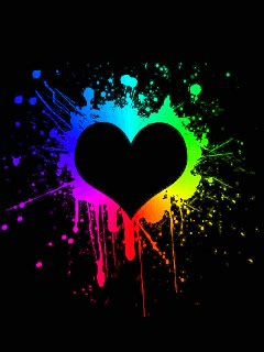 wallpaper heart gif free animated heart gifs animated rainbow heart mobile