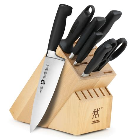 kitchen knives henckel zwilling j a henckels four star knife block set 8 piece cutleryandmore com