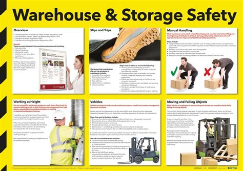 Home Design Checklist by Warehouse Amp Storage Safety Poster Seton Uk