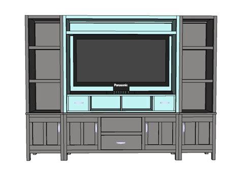 simple entertainment center plans   build diy
