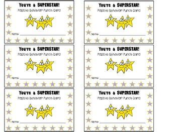 cards for students from rewards and consequences miss ipema s classroom website