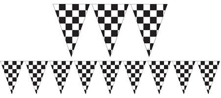checkered flag bunting free printable race car party supplies decorations indy 500 party