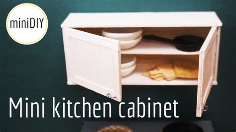 Kitchen Dollhouse Furniture Miniature Kitchen Cabinet Diy Dollhouse Minidiy Youtube