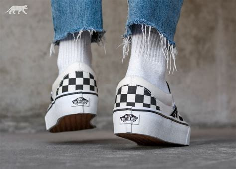 Vans Era Slipon Checkerboard Black White vans classic slip on platform black white checkerboard
