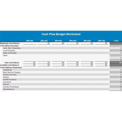 Free Exle Of A Start Up Cash Flow Projection Flow Template For Startup Business