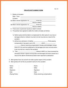 Private Lease Agreement Template Car Accident Settlement Agreement Marital Settlements
