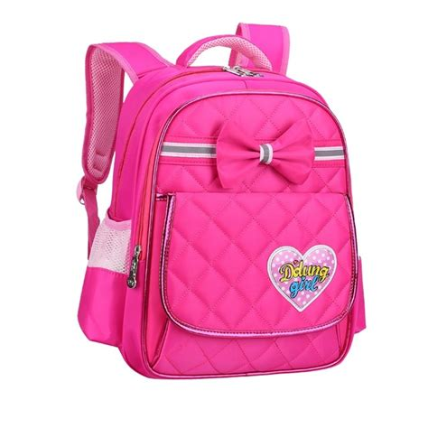 Bow Lightweight Backpack lightweight pink bow quilted flap cus
