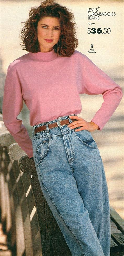 clothes for women over 80 levi s denim jeans from a 1989 catalog vintage fashion