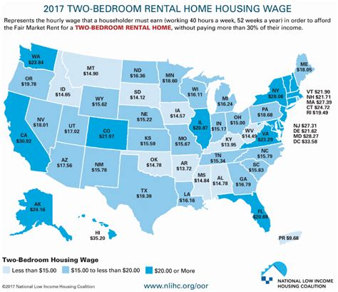 average 1 bedroom rent us rural blog minimum wage isn t enough to cover two bedroom