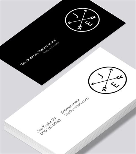 Entrepreneur Business Card Template by Business Card With Professional Designation Image