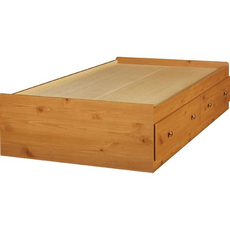 pine platform bed essential home belmont mates twin bed honey pine shop