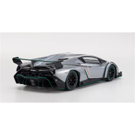 grey lamborghini veneno lamborghini veneno grey with green line 1 18 scale