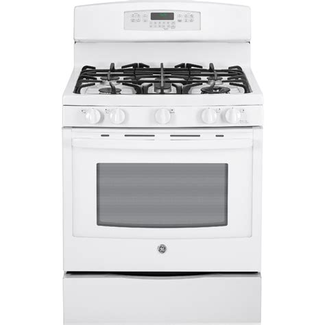 ge profile gas range ge profile pgb920defww 5 6 cu ft gas range w convection white sears outlet