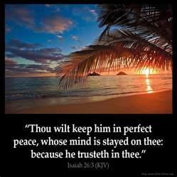 isaiah 26 3 inspirational image