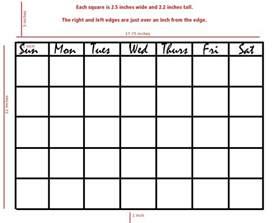 blank calendar for kids calendar template