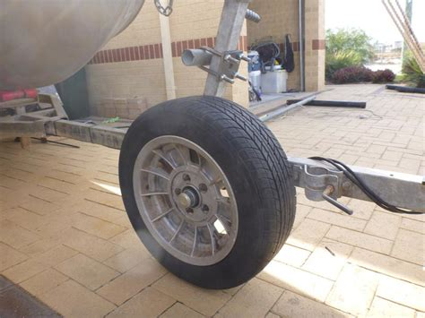 small boat trailer wheels diy rolling trailer spare and beach launch wheel fishing