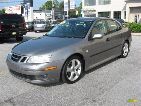 2003 steel grey metallic saab 9 3 linear sport sedan