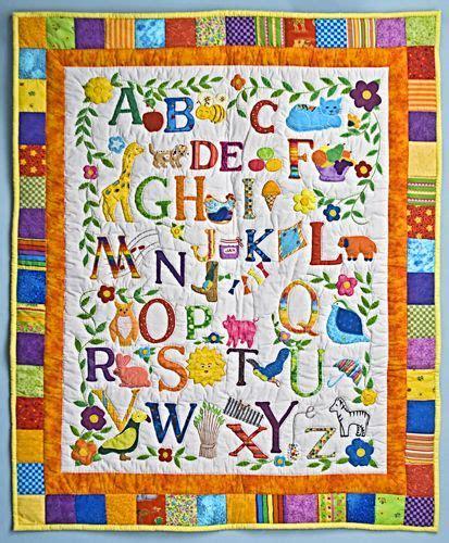 quilt pattern alphabet alphabet baby quilt quilts things pinterest