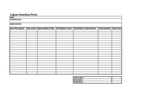 Free Liquor Inventory Spreadsheet Excel Natural Buff Dog Free Liquor Inventory Template