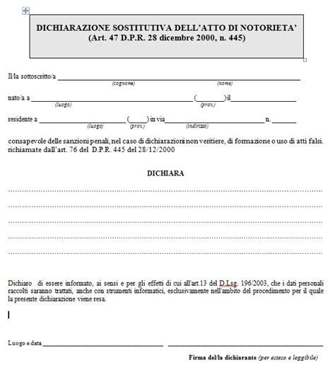 dichiarazione sostitutiva iscrizione di commercio dichiarazione sostitutiva dell atto di notoriet 224