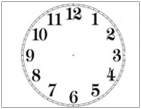 printable analogue clock template printable analog clock face clipart best