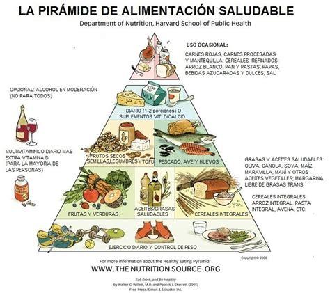 piramides de los alimentos piramide de alimentacion saludable de harvard traducida