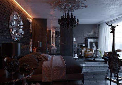 Bathroom Mirror Frame Ideas all black modern gothic bedroom design digsdigs
