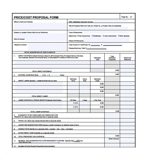 sle price proposal template 10 free documents in pdf