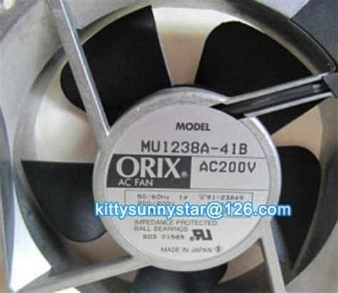 Best Product Orix Ac Fan 20 Cm orix 12038 mu1238a 41b 200v ac fan cooling fan in fans cooling from computer office on