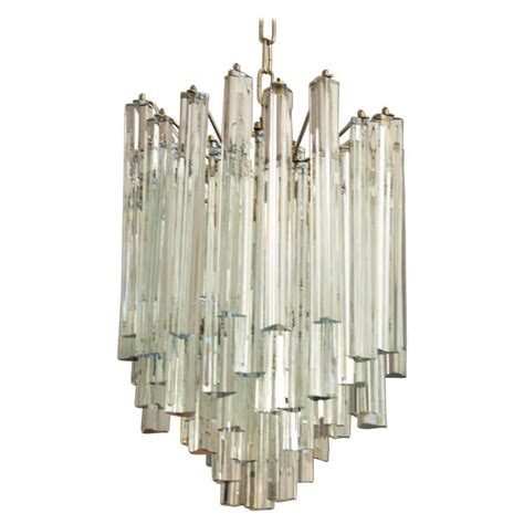 Glass Prisms For Chandeliers Lead Triangular Prisms Chandelier Attributed To Venini For Sale At 1stdibs
