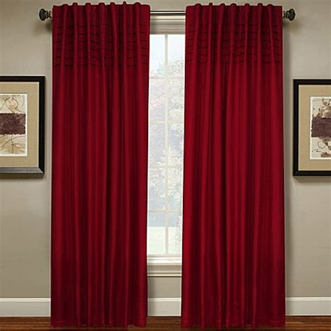 63 curtain panels buy hailey 63 inch pleated window curtain panel in red