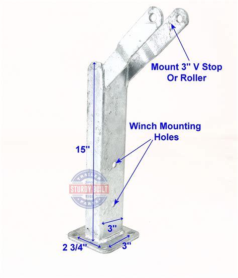 galvanized boat winch boat trailer galvanized winch mount with roller bracket 3