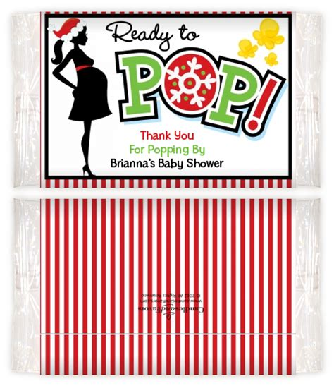 Baby Shower Popcorn Wrappers by She S Ready To Pop Edition Baby Shower Popcorn
