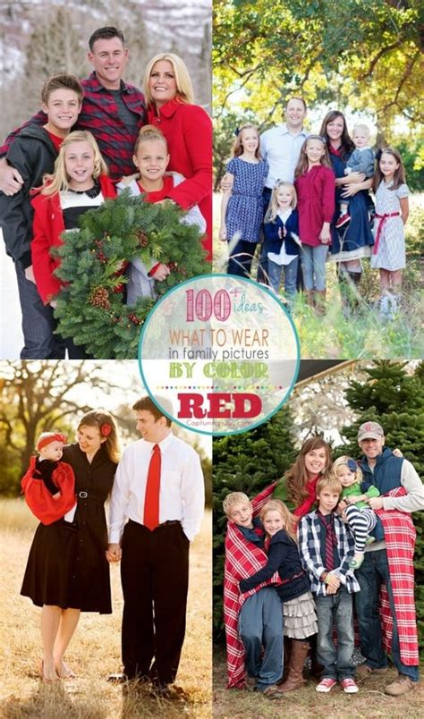 family photo color ideas family picture outfits by color series red family